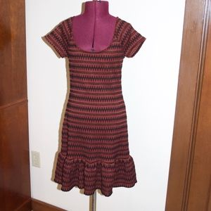 Free People Rust & Black Sweater Dress S